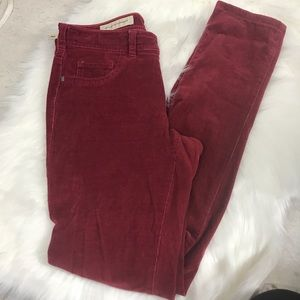 Pilcro and the Letterpress red Corduroy pants 27
